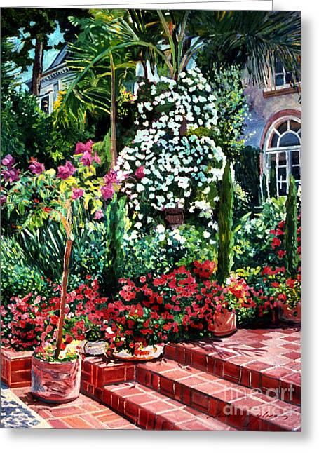 Brick Steps Greeting Card by David Lloyd Glover