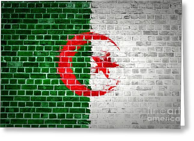Brick Wall Algeria Greeting Card