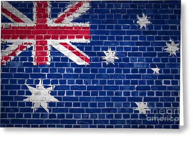 Brick Wall Australia Greeting Card
