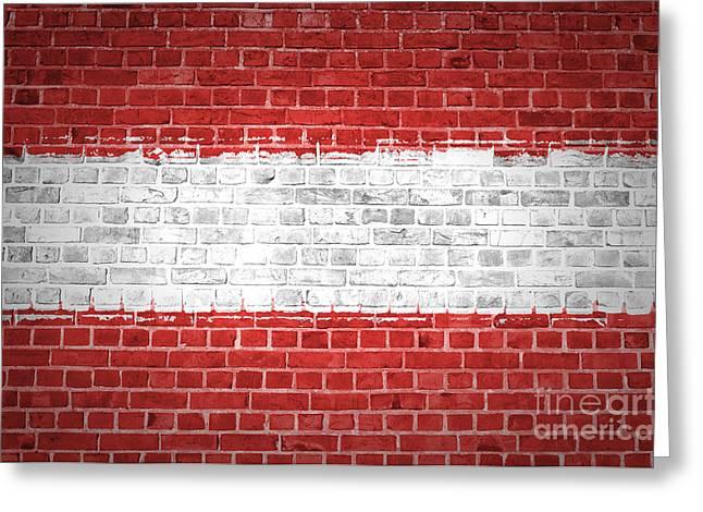 Brick Wall Austria Greeting Card