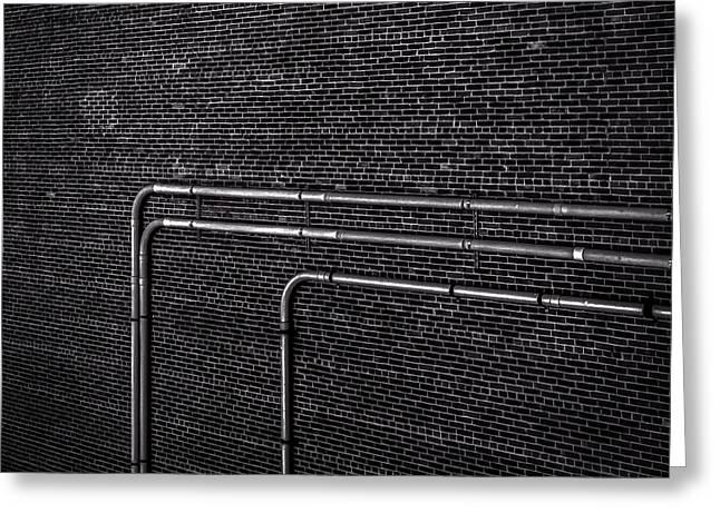 Brick Wall Greeting Card by Bob Orsillo
