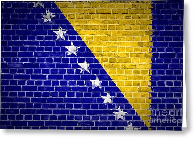 Brick Wall Bosnia And Herzegovina Greeting Card