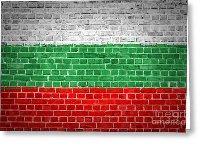 Brick Wall Bulgaria Greeting Card by Antony McAulay