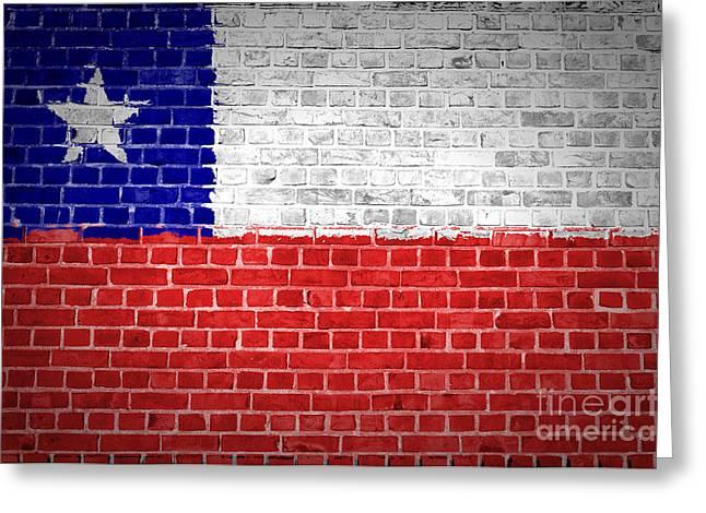 Brick Wall Chile Greeting Card by Antony McAulay
