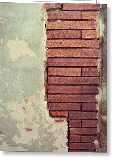 Brick Wall Greeting Card by Cynthia Harvey