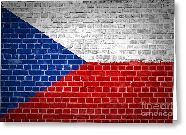 Brick Wall Czech Republic Greeting Card by Antony McAulay