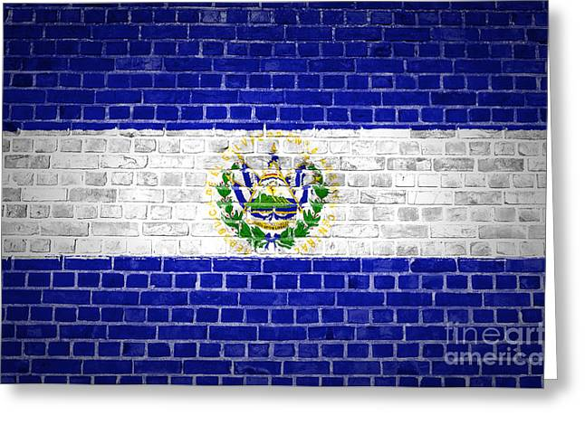 Brick Wall El Salvador Greeting Card