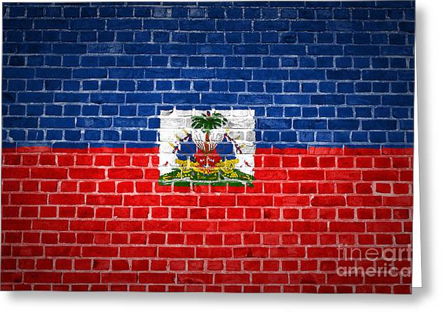 Brick Wall Haiti Greeting Card