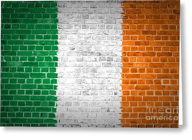 Brick Wall Ireland Greeting Card