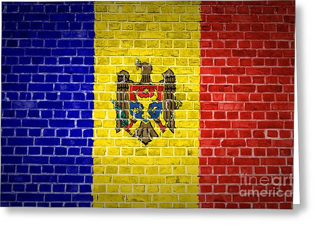 Brick Wall Moldova Greeting Card by Antony McAulay