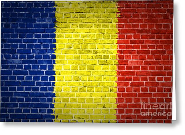 Brick Wall Romania Greeting Card