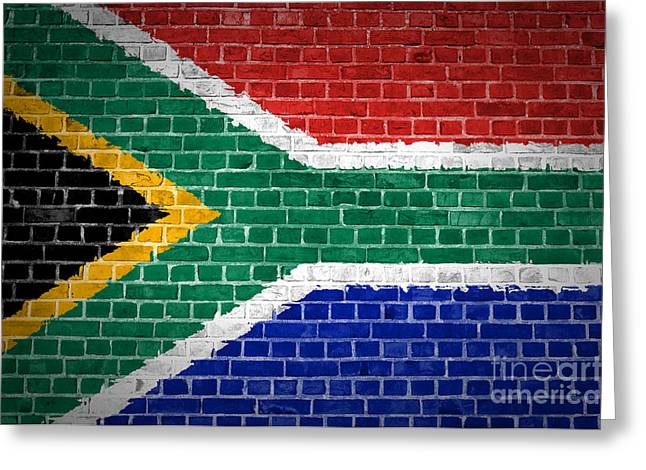 Brick Wall South Africa Greeting Card