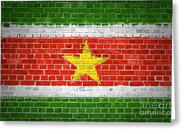 Brick Wall Suriname Greeting Card by Antony McAulay