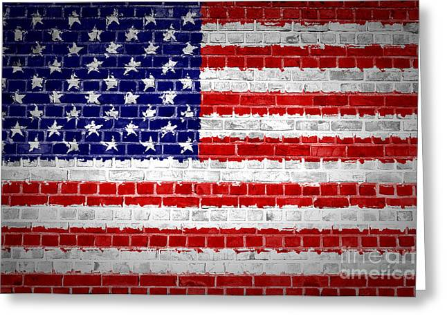 Brick Wall United States Greeting Card