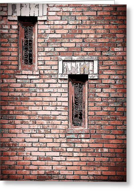 Brick Work Greeting Card by Melanie Lankford Photography