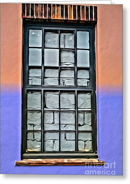 Bricked-up Window Greeting Card by Paul Stevens