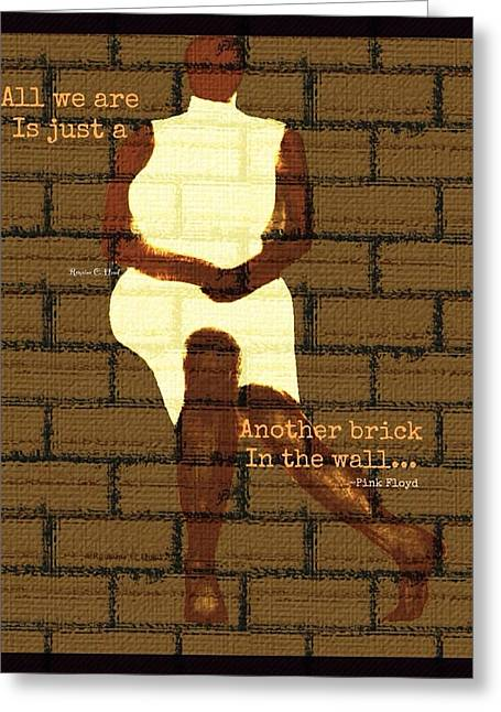 Brickinthewall Greeting Card by Romaine Head