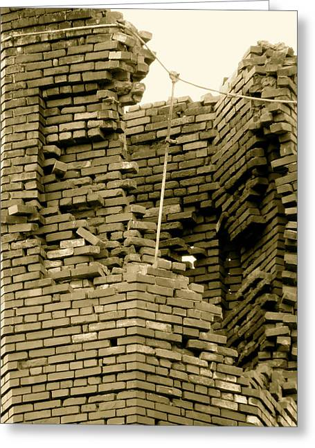 Bricks Greeting Card by Azthet Photography