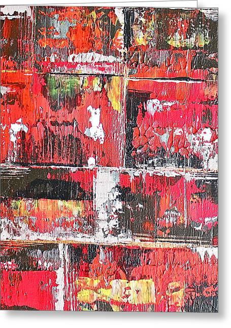 Bricks Greeting Card by Izabela Bienko