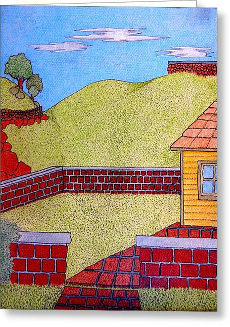 Bricks Y Casa El Lado Greeting Card