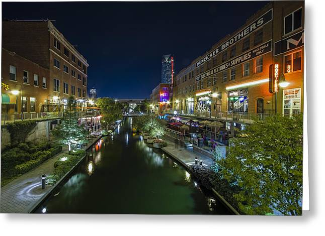 Bricktown Canal Greeting Card