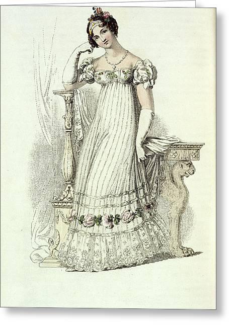 Bridal Dress Greeting Card by British Library