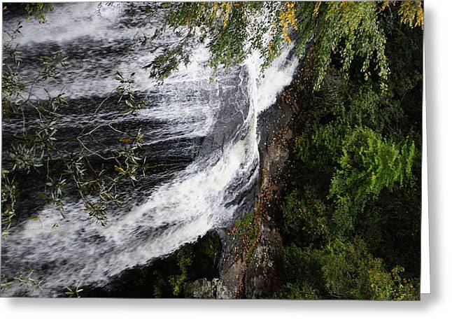 Bridal Falls Nantahala National Forrest Greeting Card by Rosemarie E Seppala