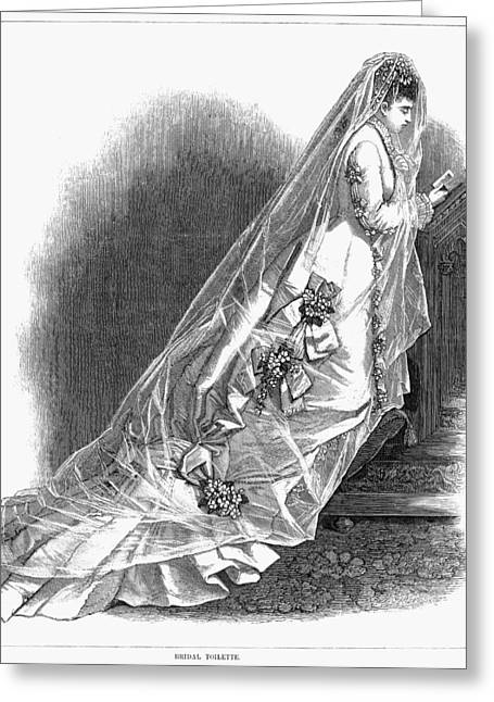 Bridal Gown, 1876 Greeting Card