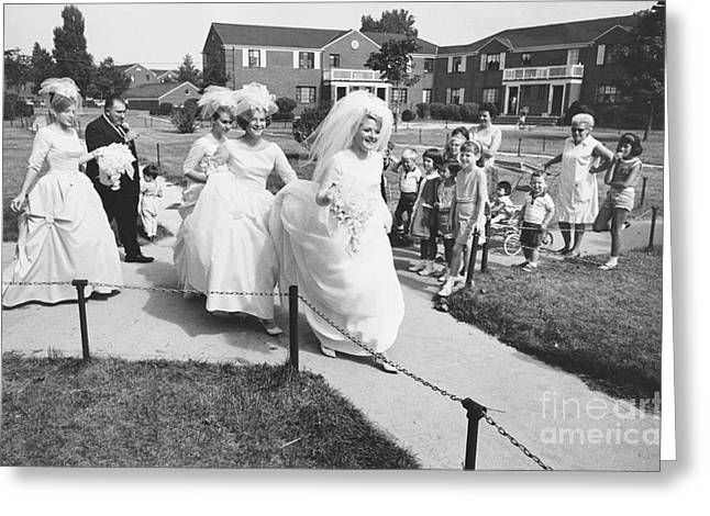 Bridal Party, 1960s Greeting Card by Van D. Bucher
