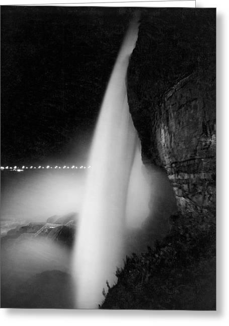 Bridal Veil At Niagara Falls Greeting Card by Underwood Archives