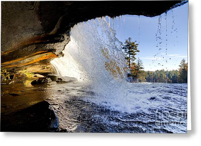 Bridal Veil Falls In Dupont State Forest Nc 2 Greeting Card by Dustin K Ryan