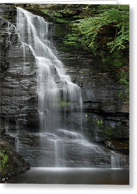 Bridal Veil Falls Greeting Card by Jennifer Ancker