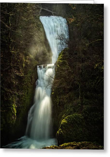 Bridal Veil Falls Greeting Card by Joe Hudspeth