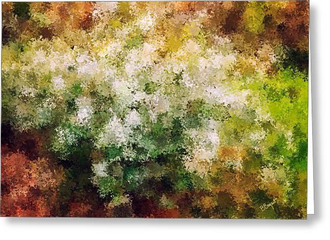 Bridal's Wreath Greeting Card by Brenda Bryant