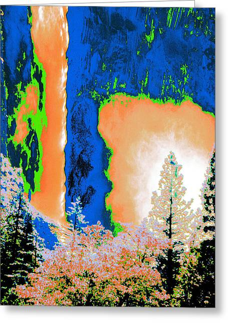 Bridalveil Fall Abstract Greeting Card
