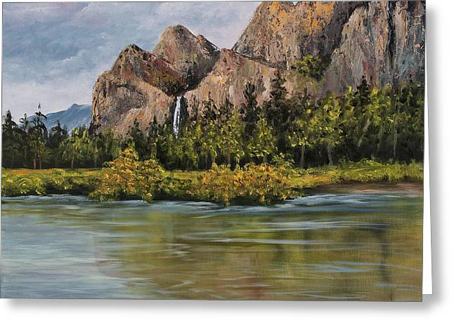Bridalveil Fall Yosemite Greeting Card