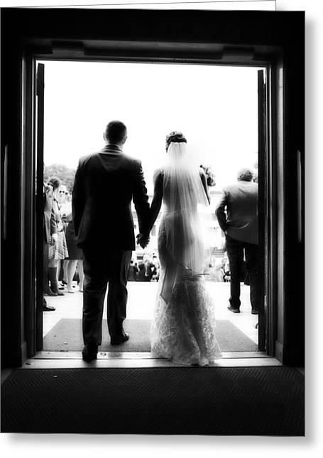 Bride And Groom Greeting Card by Rick Berk