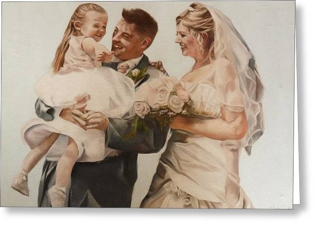 Bride And Joy Greeting Card