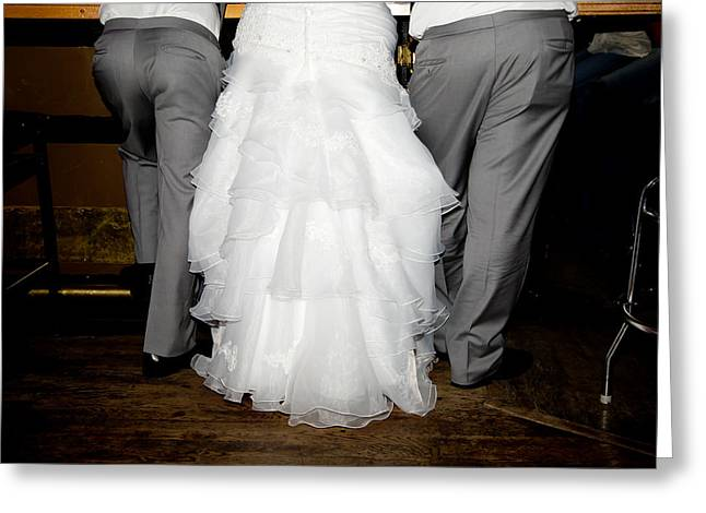 Greeting Card featuring the photograph Bride At The Bar by Courtney Webster