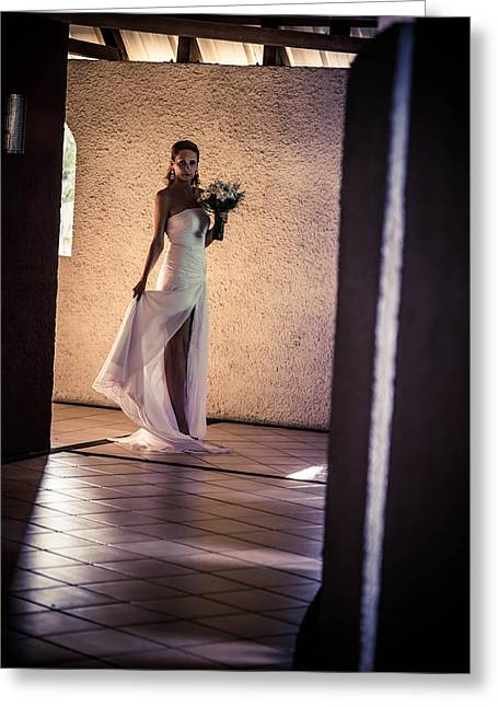 Bride. In Color Greeting Card by Jenny Rainbow