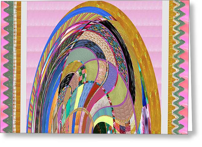 Bride In Layers Of Veils Accidental Discovery From Graphic Abstracts Made From Crystal Healing Stone Greeting Card by Navin Joshi