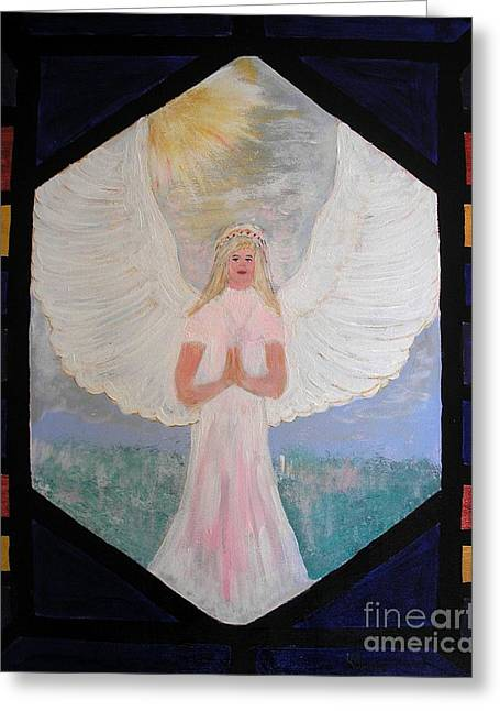 Angel In Prayer  Greeting Card