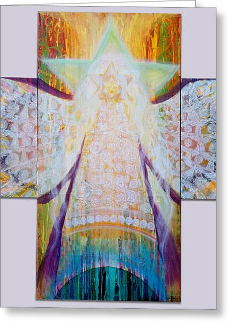 Bride Of Christ Save The Planet Greeting Card by Anne Cameron Cutri