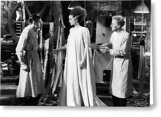 Bride Of Frankenstein  Greeting Card by Silver Screen