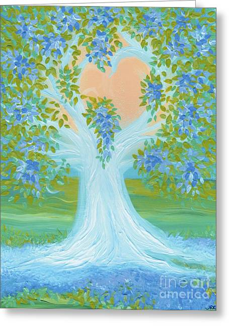 Brides Tree Blue Greeting Card