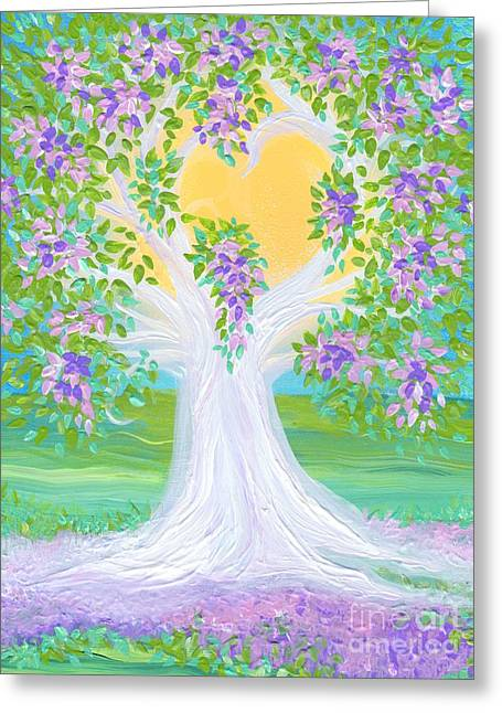 Bride's Tree Purple Greeting Card by First Star Art