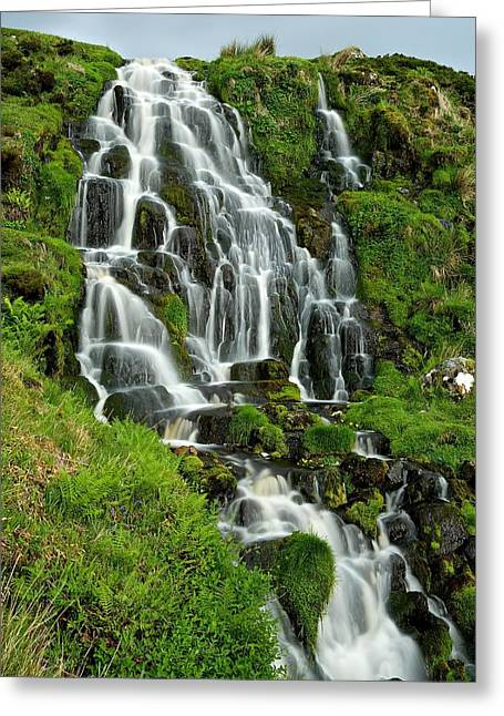 Bride's Veil Waterfall Greeting Card