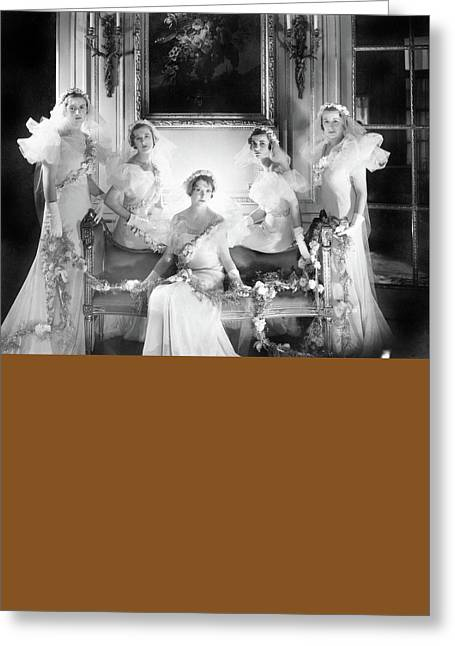 Bridesmaids For The Wedding Of Sir Hugh Houston Greeting Card by Cecil Beaton
