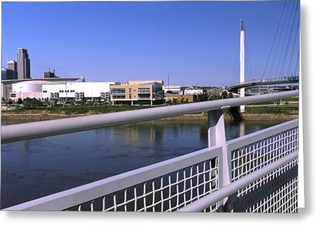 Bridge Across A River, Bob Kerrey Greeting Card by Panoramic Images