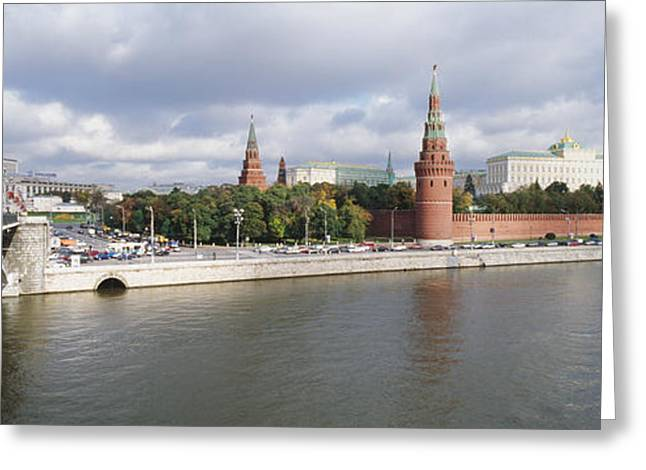 Bridge Across A River, Bolshoy Kamenny Greeting Card by Panoramic Images